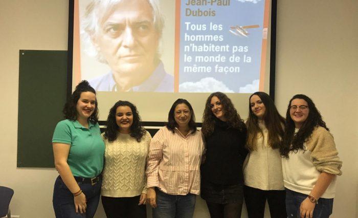 Estudiantes  del Campus de Soria y la profesora Lourdes Terrón
